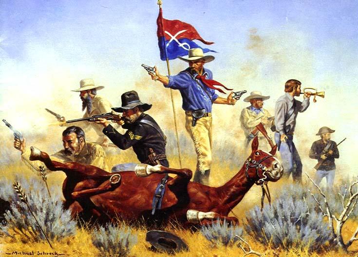 General Custer's Troops Perish in Battle of Little-Bigweek