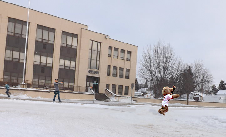 Touchdown The Bear Shot At After Visiting Wyoming Public School